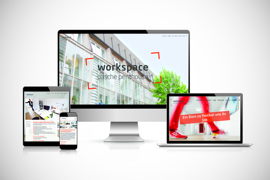 Website design workspace pasche penthouse Wuppertal